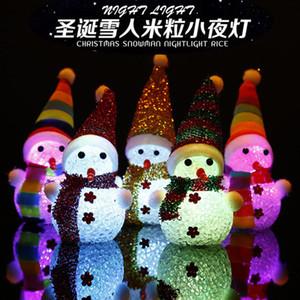 도매 3 개 빛난 크리스마스 아이스 맨 크리스마스 트리 애플 플래시 크리스마스 장난감 선물 장식