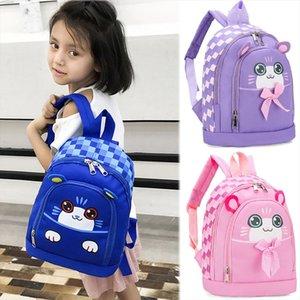Amp; kızlar öğrenci sırt çantası erkek çocuklar karikatür erkek kedi hayvan sırt çantası okul yürüyor kızlar insular çanta 2019 peluş su geçirmez 45 txbxx