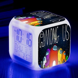 DHL 7 estilos entre los EE. UU. Game Figura Luminoso LED Alarma Reloj de alarma Flash Desk Light Flash Modelo Figura Figura Juguetes para niños Niños Regalo