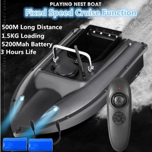 Constant Speed ​​Cruise Funktion 500m Smart Lure Fishing Fernbedienung Fischerei Köder Boot Auto RC Fernbedienung Fischerei Köder Boot 201204