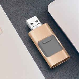 Pendrive 32GB 3 em 1 iPhone USB flash drive OTG 32GB Pendrive 3.0 CLE USB flash drive 64GB para para iphone / android / tablet pc