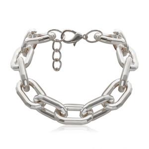 Punk cadena gargantilla collar collar hip hop chokers chokers oro color grueso cadena de la cadena collar para mujeres hombres joyería regalo 116 l2