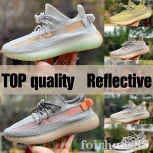 chaud Kanye West statique Chaussures de course New Israfil Cinder Desert Sage Terre queue lumière Zebra Femmes Hommes Baskets Chaussures de sport