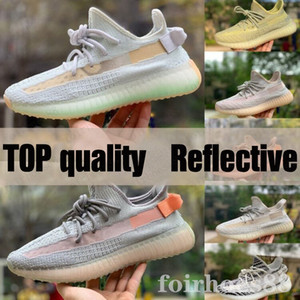2020 Nuovo Kanye West Static Shoes Scarpe da corsa Nuovo Israfil Cinder Desert Sage Terra Coda posteriore Zebra Womens Mens Trainer Scarpe da ginnastica