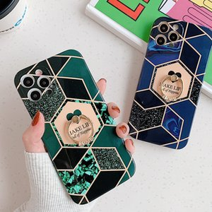marble pattern Stitching lovely phone case For iPhone 12 mini iphone 11 pro max iphone xr xs max 6 7 8 Plus case with finger ring holder
