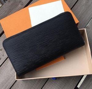 디자이너 Unisex 비즈니스 지갑 럭셔리 여성 손 가방 남자 공식 지갑 패션 클래식 블랙 지갑 고품질 일반 지갑 # 4
