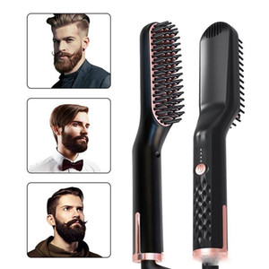 Professional Electric Beard Hair Straightener Brush Hairdressing Comb Multifunctional Man Woman Hair Straightening Brush Beard Comb DHL Free