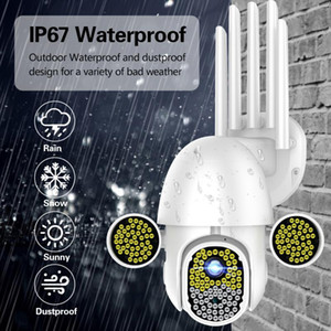Home safe172 LEDs 1080P Camera HD IP Security WiFi CCTV PTZ IR Speed Outdoor Waterproof Wireless Wifi Camera Consumer Camcorders
