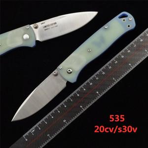 BENCHMADE BM 535 535s Bugout couteau pliant de poignée G10 20CV lame camping en plein air mini-EDC BM 940 BM781 BM810 BM3300 C07 C81 couteau papillon