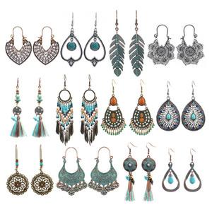 Moda Boho orecchini per le donne ragazze bohémien vintage drop dangle orecchini orecchini di dichiarazione orecchini stile nazionale in lega di stile
