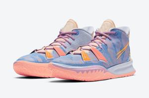 Frauen Kyrie 7 Ausdrücke Kinder zum Verkauf mit Kasten Neue Männer Frauen Sports Schuhe Geschäft Großhandel US4-US12