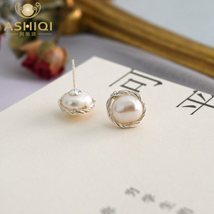 (Law 925 silver earrings) (handmade by ashikhi's women) (natural freshwater pearl jewelry, jewelry)