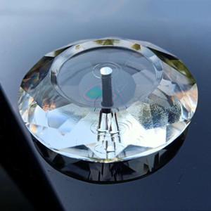 80mm Clear K9 Crystal вогнутая круглая форма люстра Кристаллы подвески Солнцезащитные аксессуары ремесел подарок домашний сад украшения H BByvjv