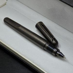Top Stylo magnétique de luxe MT Edition limitée Série M Série Grey and Silver Métal Stylo Papeterie Écriture de bureau Fournitures de bureau comme cadeau d'anniversaire