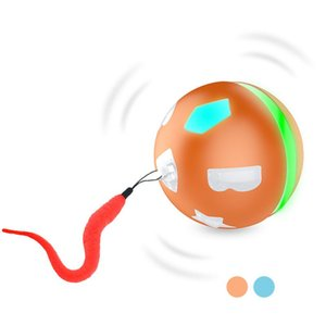 Interactive Cat Toy Ball Smart Electric Automatic Rolling Jumping Ball Led For Cat Dog Intelligent DIY Teaser Toy Usb Charge