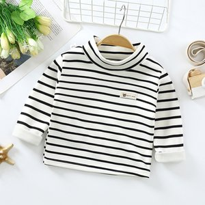 Autumn New Children's Clothes Baby Boys Plush High Collar Bottoming Shirt Winter Kids Girls Long Sleeve Warm Top Toddler Sweater