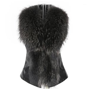 Womail Womens Faux Fur Vest Jacket Sleeveless Winter Body Warm Coat Waistcoat Gilet Cardigan woman vest 2018 L307261