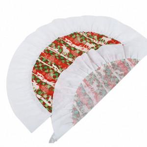 60CM Christmas Tree Skirt cerf modèle couverture décoration fournitures de petite taille YNB8 #