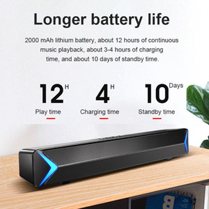 TV Sound Bar USB Wireless Bluetooth Home Outdoor Subwoofer Speaker Theater FM Radio Surround Soundbar
