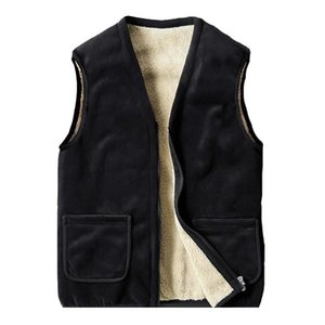 Winter Vest for Men Warm Fleece Insided Waistcoat Outwear Casual Thermal Soft Vests Men Windreaker Sleeveless Gilet Homme