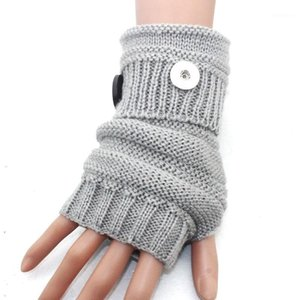 5 colori Warm Winter 18mm Metallo Snap Button Gloves Snap Mittens orologi Donne One Direction Female Gioielli fai da te 41401