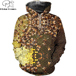 PLstar Cosmos Mode pour hommes hoodies insectes abeille 3D Print Hoodie unisexe Casual streetwear Sweat à capuche Sweat sudadera hombre 201005