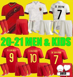 Nuevo 20 21 Bélgica Soccer Jerseys de Bruyne Lukaku Men Kit Kits 2020 2021 Peligro Batshuayi Kompany Dembele Adulto Niño Set Camisa de Fútbol
