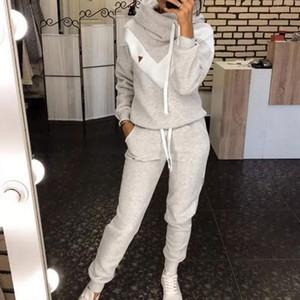 Женские трексуиты Couscsuit 2 частей набор пуловер толстовки + брюки спортивный костюм женская осень зимняя толстовка наборы спортивной одежды для женщины 2021