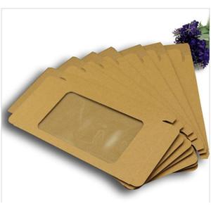 300pcs Universal Mobile Phone Case Package Paper Kraft Brown Retail Packaging Box For Iphone 7sp 6sp 8sp Sams jllpZj sinabag