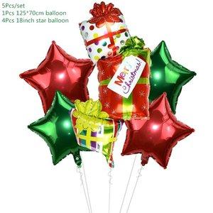 5pcs set Cartoon Santa Claus Snowman Foil Balloons Christmas Party Decorations Party Balloons Inflatable Helium Balloon Kids Toy jllvdf