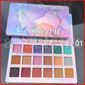 CmaaDu Eye Makeup Mercury Retrograde 18 Colors Eye Shadow Eyeshadow Beauty Make Up Nude EVA Shimmer Matte shadows 2 Styles
