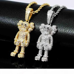 Cartoon Doll Pendant Full zircon hip-hop Necklace Jewelry Bling Iced Out Golden Silver Necklace New Hot