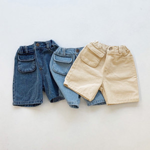 kids clothes girls boys Denim shorts children Jeans Pants With pockets 2021 summer fashion Boutique baby Clothing Z2305