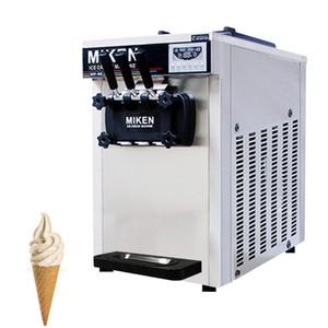 Ticari Masaüstü 3 Tatlar Mini Soft Dondurma Makineleri İçin Restoranlar Paslanmaz Çelik Dondurma Makinesi TB-618 Serve