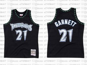 Men women youth basketball MinnesotaTimberwolves21 KevinGarnett 1997-98 Hardwoods Classics retro Jersey