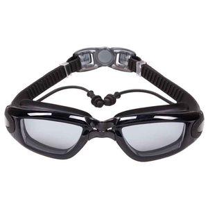 New professional anti-fog UV protection plating adjustable earplugs swimming goggles men women waterproof silicone glasses adult glasses
