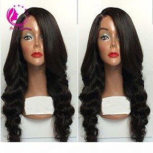 130-180% Densité Vierge brésilienne perruques de cheveux humains pleine perruque de dentelle cheveux Custom 100% perruque avant de dentelle sans colle de cheveux humains