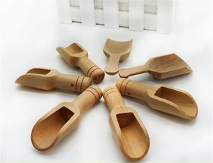 Wooden Round Handle Scoop Teaspoon Small Salt Shovel Milk Powder Scoops Wood Condiment Spoons Coffee Tea Mini Sugar Spoon