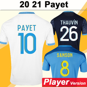 20 21 Thauvin Payet Version Mens Soccer Jerseys Benedetto Sanson Home Away 3ème Shirt de football Kamara Sakai Uniformes à manches courtes