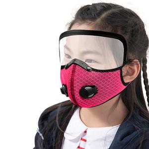 Детская велосипедная маска с отсоединенным экраном для глаз дыхания маска наружная пыленепроницаемая дышащая защита с удалением лицевой крышки лица GWC2661