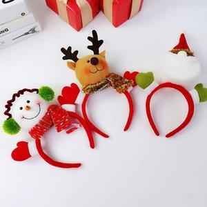 Nuevo Accesorios para el cabello de Navidad Decoración Cross-Border Elk Santa Head Band Navidad Headwead Headweband Muñeca Diadema 10