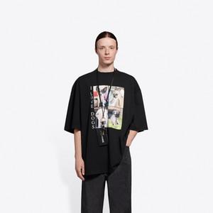 Avrupa İlkbahar Yaz Fransa Paris Ben Köpekler Fotoğraf Baskı Vintage Tshirt Moda Erkekler Kadınlar Kısa Kollu T Gömlek Casual Streetwear Pamuk Tee