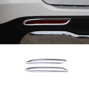 Carmango für Mercedes-Benz GLB-Klasse X247 2019-2020 Autozubehör Rückseite Nebelscheinwerfer Glanz Trim Abdeckung Aufkleber Rahmen Chromkreis