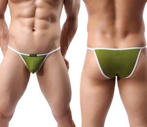 Wowhomme Модальная ткань дышащая низкая талия мужская белье сексуальное маленькое треугольник шорты N30