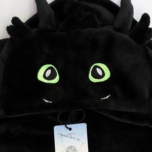 Kigurumi Pigiama Anime Come Train Your Dragon senza denti Cosplay Costumi per bambini adulti flanella inverno Sleepwear tuta Suit