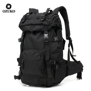 "Ozuko Outdoor Camouflage Men 15.6"" Laptop Backpack Trip Travel Waterproof Back Pack Hiking Backpacks Women Sports Luggage Bags 201116"