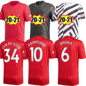 20 21 Manchester SANCHO home man soccer jerseys B.FERNANDES RASHFORD MARTIAL united 2020 football shirts kids uniforms GREENWOOD