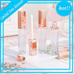 20Pcs 5ml Plastic Box Containers Empty Rose Gold Lipgloss Tube Eyeliner Eyelash Container Mini Lip Gloss Split Bottle