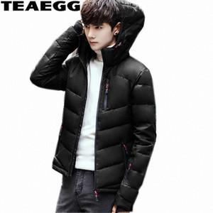 Giacca Cappotto invernale Giù TEAEGG Cappello staccabile Giù anatra Jacket Hombre Spesso Uomo Abbigliamento parka Chaqueta Plumas uomo AL355 rN9z #