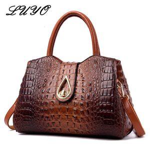 2020 Vintage Fashion Crocodile Genuine Leather Luxury Handbags Women Bags Designer Female Shoulder Bag Ladies Bolsas Alligator